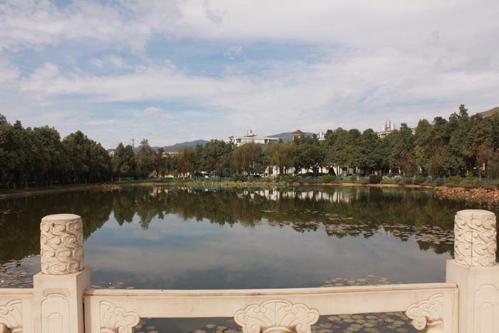 云南省玉溪工业财贸学校 文章中心 学校总览 校园风光           映月